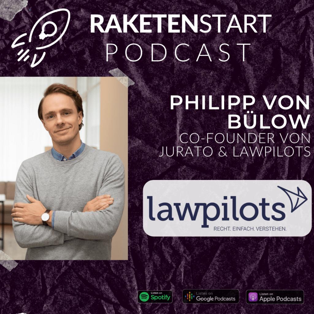 Raketenstart Podcast Bülow lawpilots